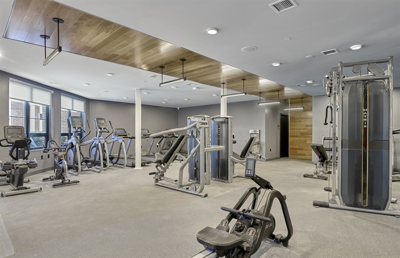 The fitness center is state of the art.