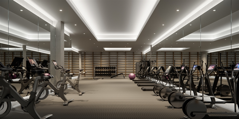 Offering state-of-the-art wellness equipment, the Fitness Center is a wood accented-space ideal for at-home workouts.