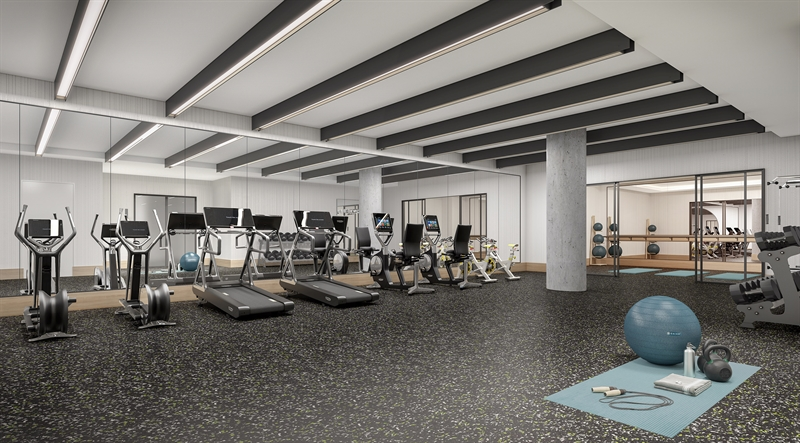 A state-of- the-art Fitness Center and Yoga Studio are complemented by the Meditation Room and infrared sauna, offering a comprehensive wellness experience.