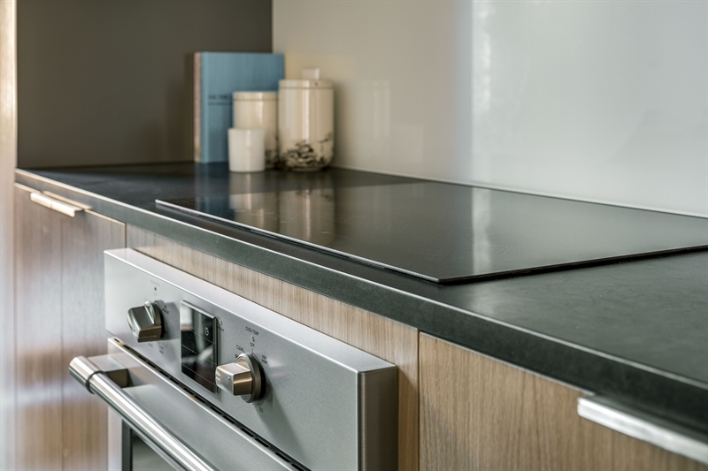 Kitchen details include Bosh appliances and a Frigidaire induction cooktop