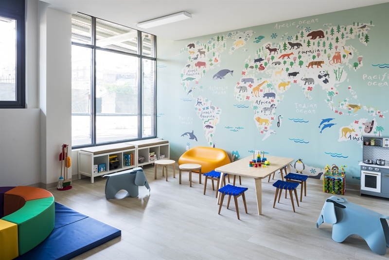 Bright and colorful children's playroom